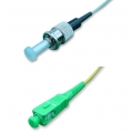 Singlemode Simplex OS1 9/125 Fiber Patch Cable ST - FC/APC 15 Meter